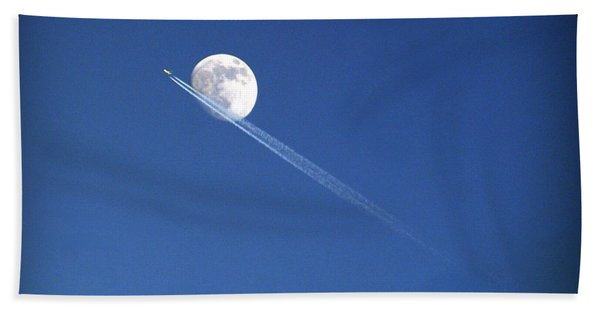 Fly Me To The Moon Beach Towel
