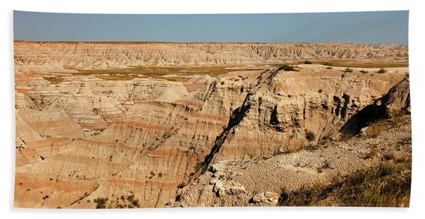 Fossil Exhibit Trail Badlands National Park Beach Towel