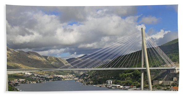 Franjo Tudman Bridge Beach Towel