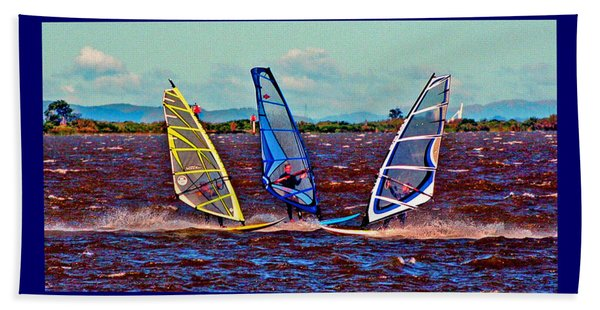Friends Windsurfing Beach Towel