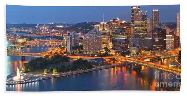 From The Fountain To Ft. Pitt Beach Towel