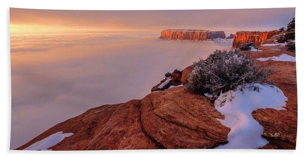 Frozen Mesa Beach Towel