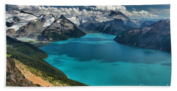 Garibaldi Lake Blues Greens And Mountains Beach Towel