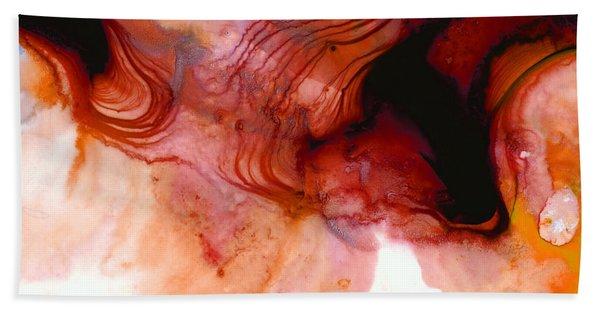 Garnet Sea - Abstract Art By Sharon Cummings Beach Towel