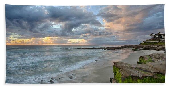 Gentle Sunset Beach Towel