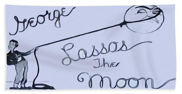 George Lassos The Moon Beach Towel