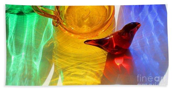 Glass Reflections #8 Beach Towel