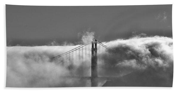 Golden Gate Fog Beach Towel