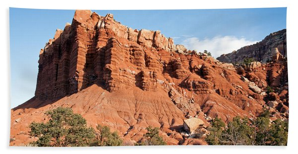 Golden Throne Capitol Reef National Park Beach Towel