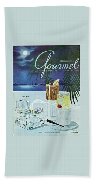 Gourmet Cover Of Cocktails Beach Towel