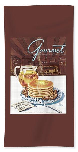 Gourmet Cover Of Pancakes Beach Towel