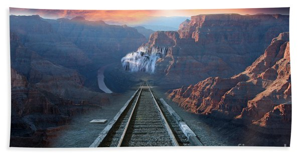 Beach Towel featuring the photograph Grand Canyon Collage by Gunter Nezhoda