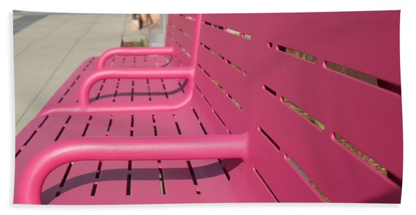 Grand Park Pink Beach Towel
