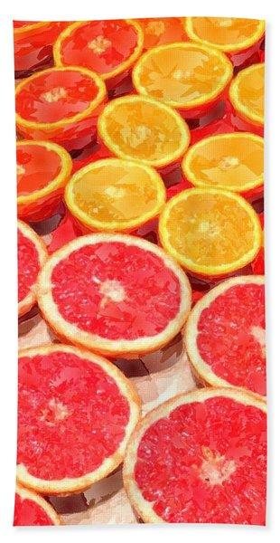 Grapefruit And Oranges Beach Towel