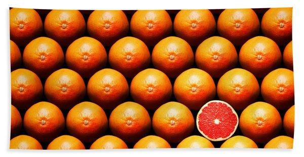 Grapefruit Slice Between Group Beach Towel