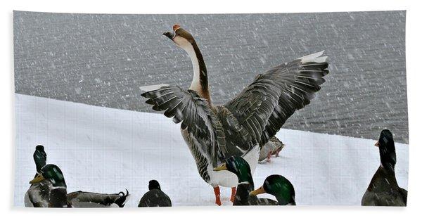 Green Valley Ducks Beach Towel