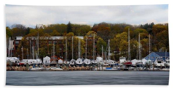 Greenwich Harbor Beach Towel