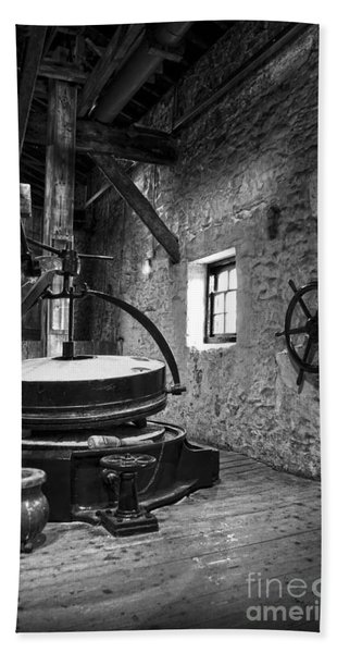 Grinder For Unmalted Barley In An Old Distillery Beach Towel