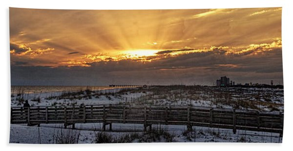 Gulf Shores From Pavilion Beach Towel