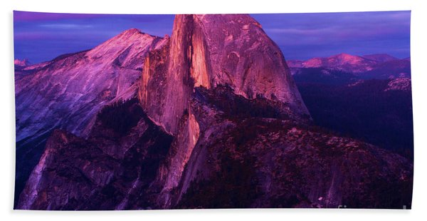 Half Dome Glow Beach Towel