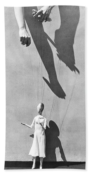 Hands Of The Puppeteer, 1929 Beach Towel