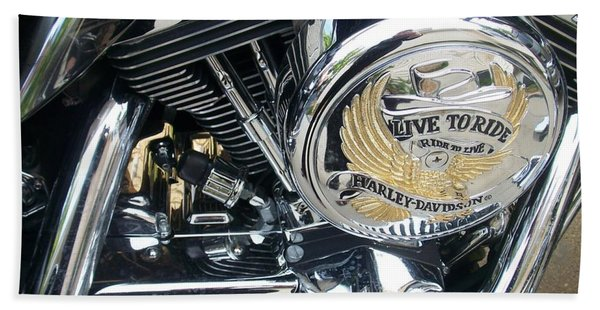 Harley Live To Ride Beach Towel