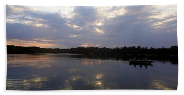 Beach Towel featuring the photograph Heading Home On Lake Roosevelt In Outing Minnesota by Jacqueline Athmann