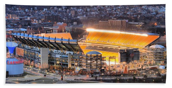 Heinz Field At Night Beach Towel