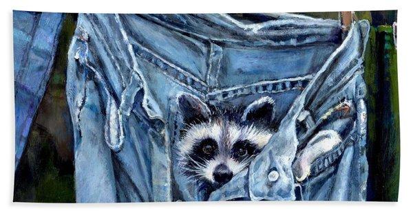 Hiding In My Jeans Beach Towel