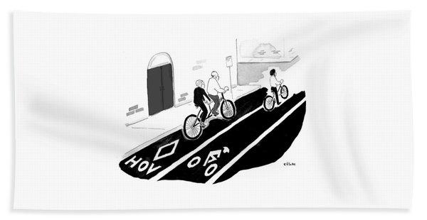 High Occupancy Tandem Bicycle Beach Towel
