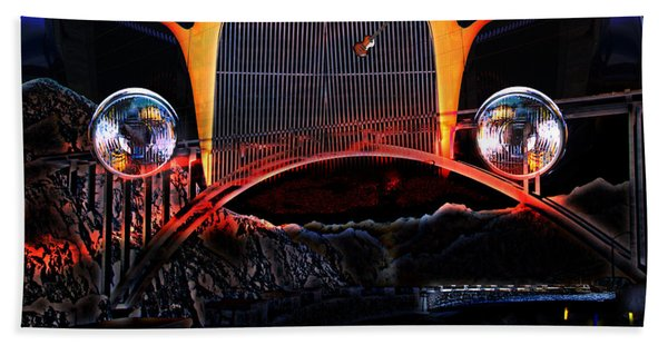 Beach Towel featuring the photograph Highway To Hell by Gunter Nezhoda
