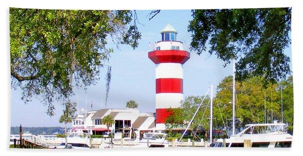 Hilton Head Lighthouse And Marina Beach Sheet