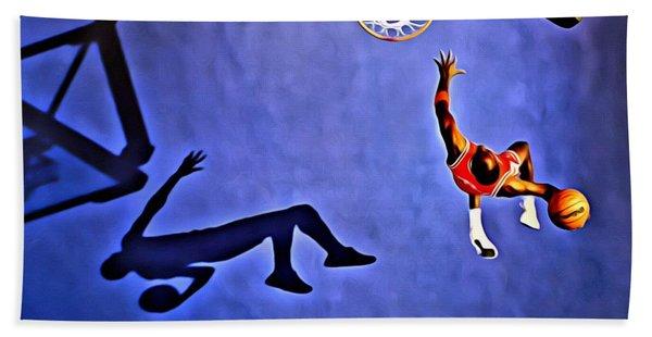 His Airness Michael Jordan Beach Towel
