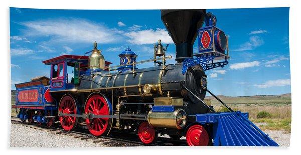 Historic Jupiter Steam Locomotive - Promontory Point Beach Towel