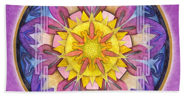 Hope Mandala Beach Towel