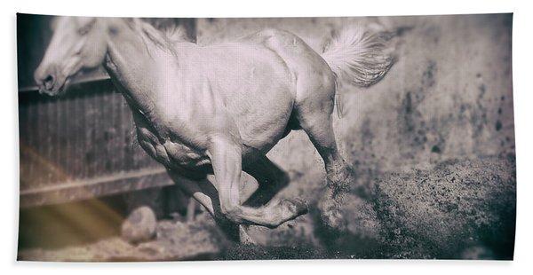Horse Power Beach Towel