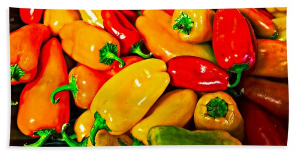 Hot Red Peppers Beach Towel