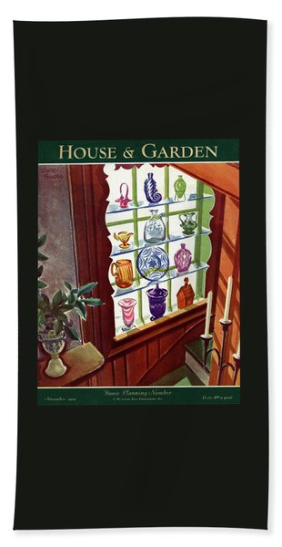House And Garden House Planning Number Cover Beach Towel