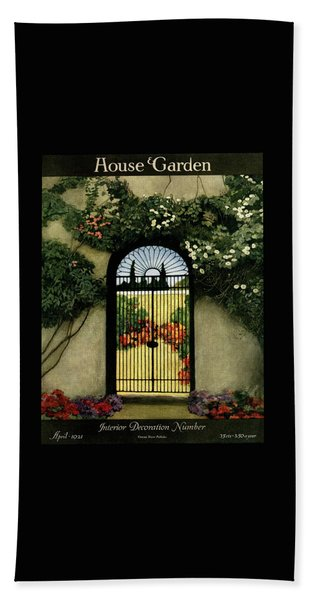 House And Garden Interior Decoration Number Beach Towel