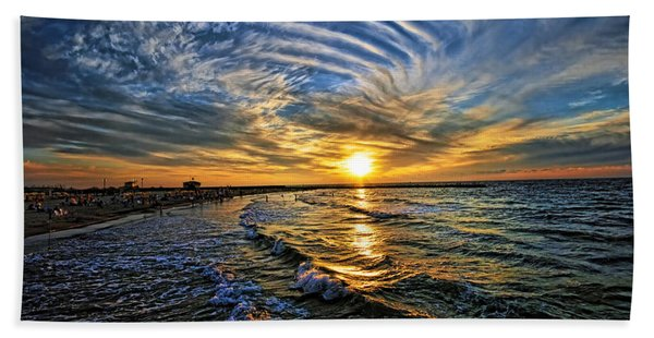 Hypnotic Sunset At Israel Beach Sheet