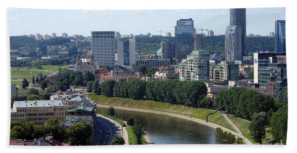 I Love You. Vilnius. Lithuania Beach Towel