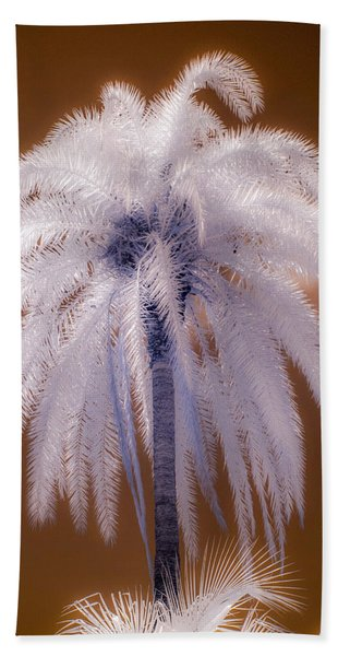 Infrared Palm Tree Beach Towel