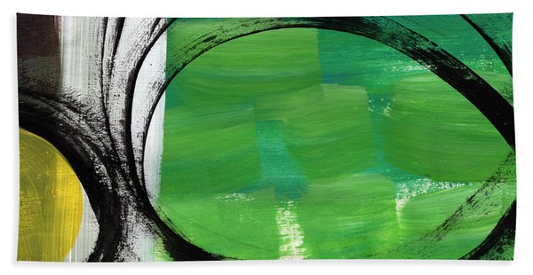 Intertwined- Abstract Painting Beach Towel