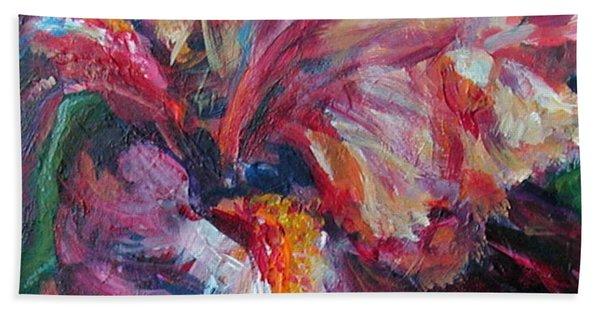 Iris - Bold Impressionist Painting Beach Sheet