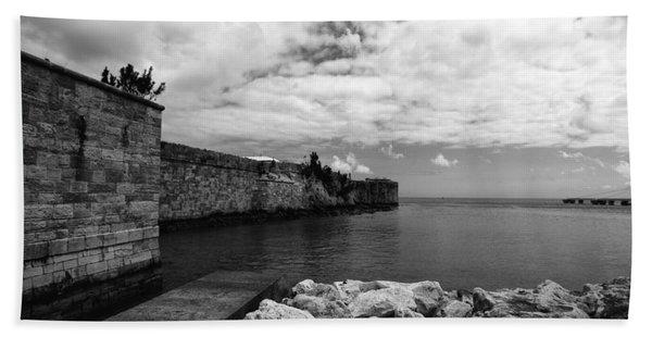 Island Fortress  Beach Towel