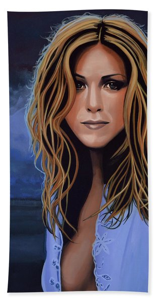 Jennifer Aniston Painting Beach Towel