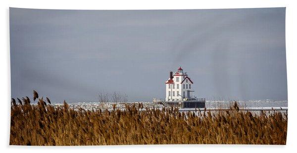 jewel of the Port Lorain Lighthouse Beach Towel