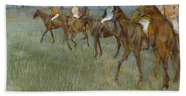 Jockeys In The Rain, 1886 Beach Towel