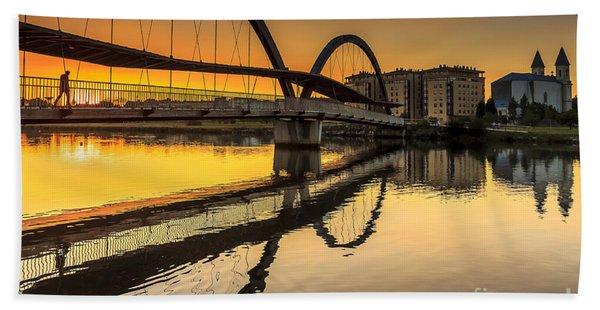 Jubia Bridge Naron Galicia Spain Beach Towel