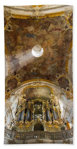 Kappele Wurzburg Organ And Ceiling Beach Towel